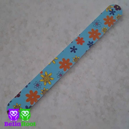 Nail File Blue with Flowers