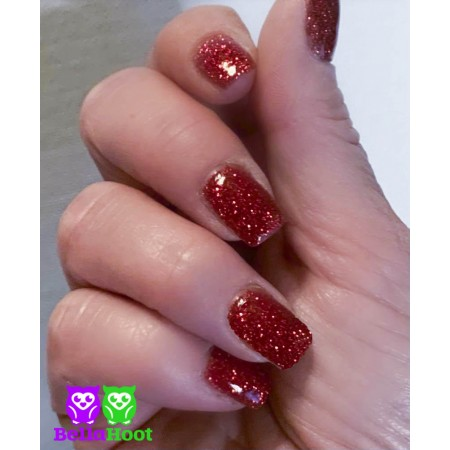 Dip Powder - Exclusive - Glow Glitter Red
