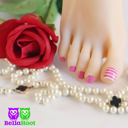 Mini Pinstriped Pink