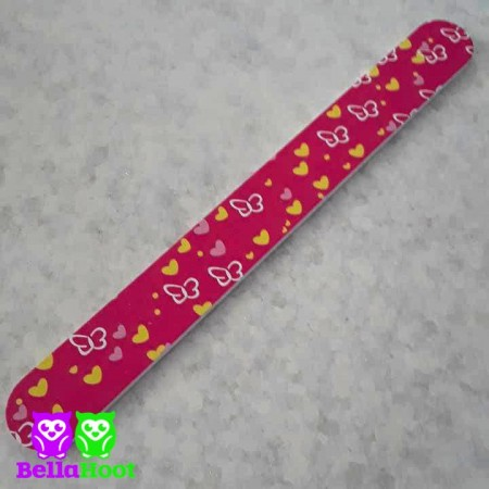Nail File Pink with Butterflies