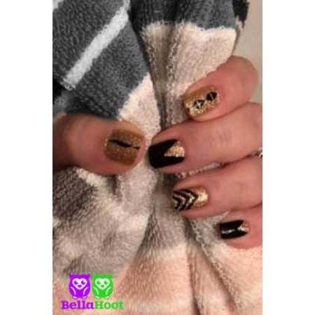 Sparkle Black and Gold
