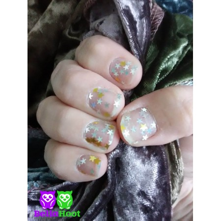 Sheer Holo & Gold Stars